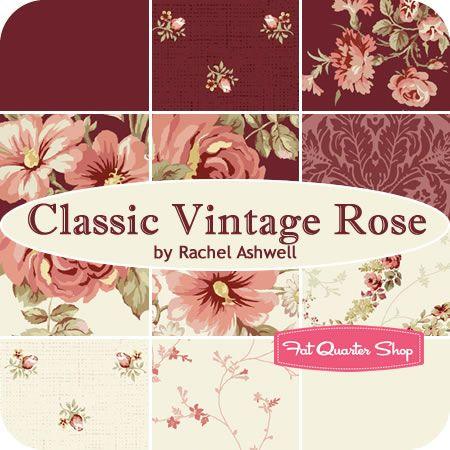 Admirable Classic Vintage Rose Fat Quarter Bundle Rachel Ashwell For Home Interior And Landscaping Ologienasavecom