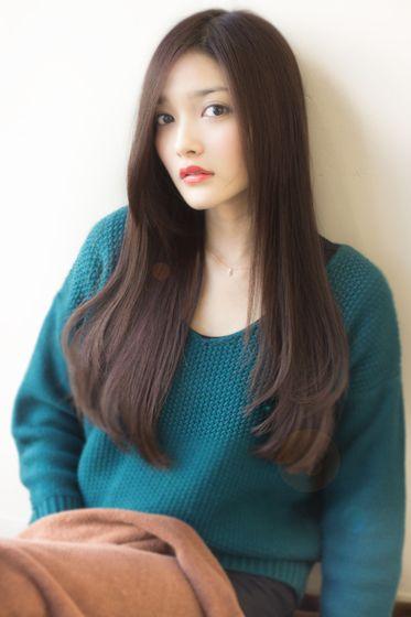 大人可愛い小顔ロングストレート 462 2013 秋 冬 髪型 ヘア