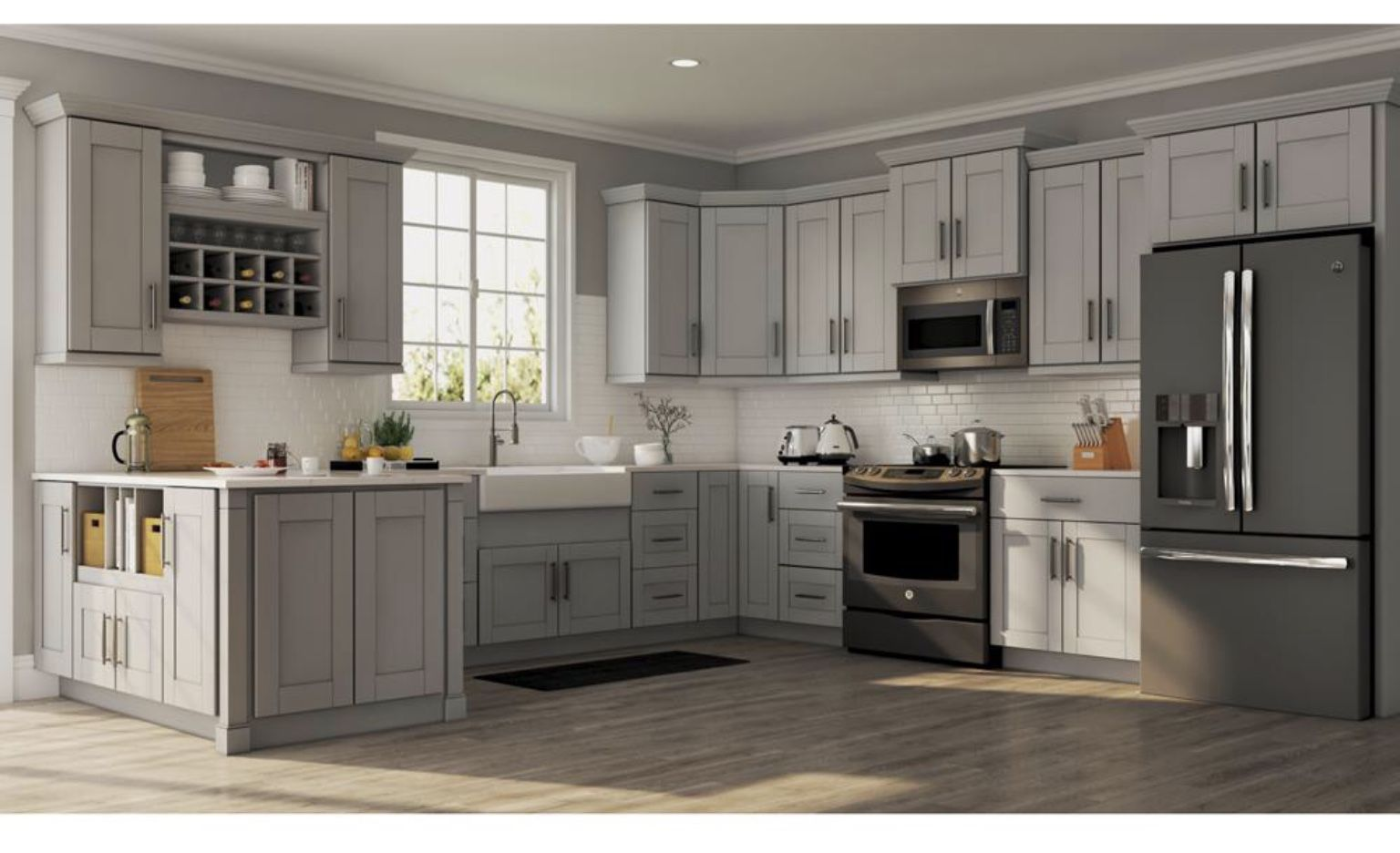 Pin By Cindy Ailey On Kitchen Remodel Ideas Home Depot Kitchen Kitchen Cabinets Home Depot Grey Kitchen Cabinets