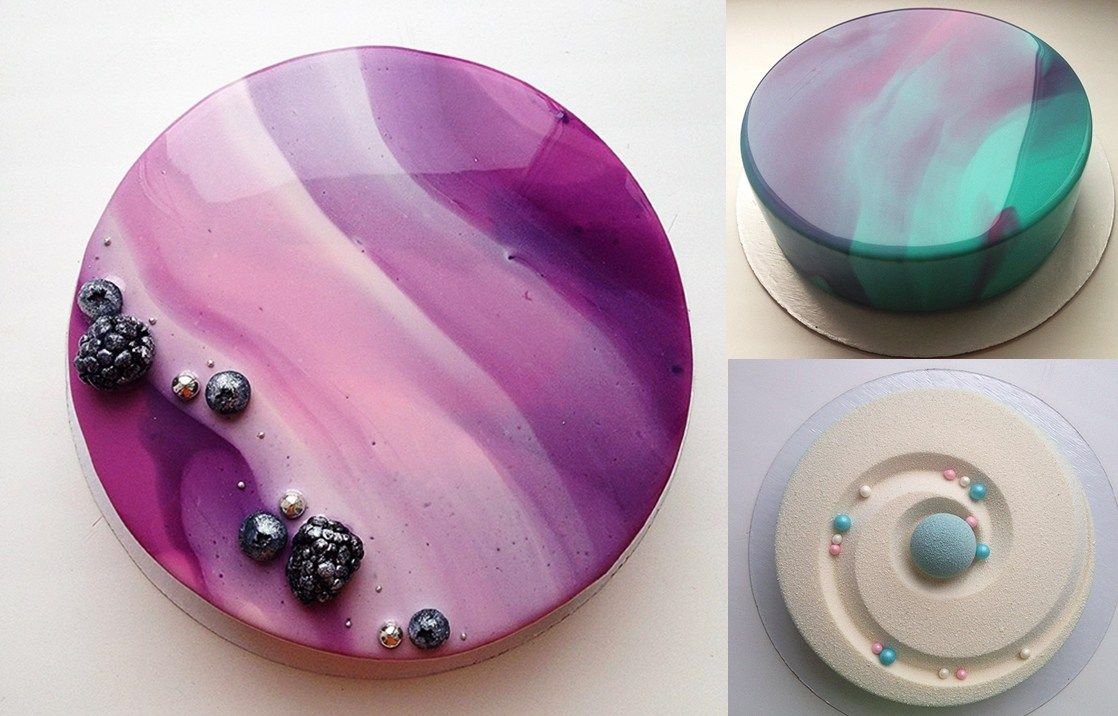 Diy Mirror Glaze Cake Marble Decorating Recipe Frostings