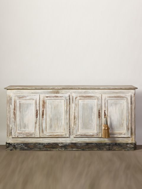 Sideboard: maybe we could use regular cabinets & add legs...wash of color, distress...