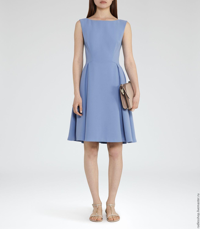 Купить Платье повседневное,платье на лето,платье офисное,платье, платье голуб - голубой, платье