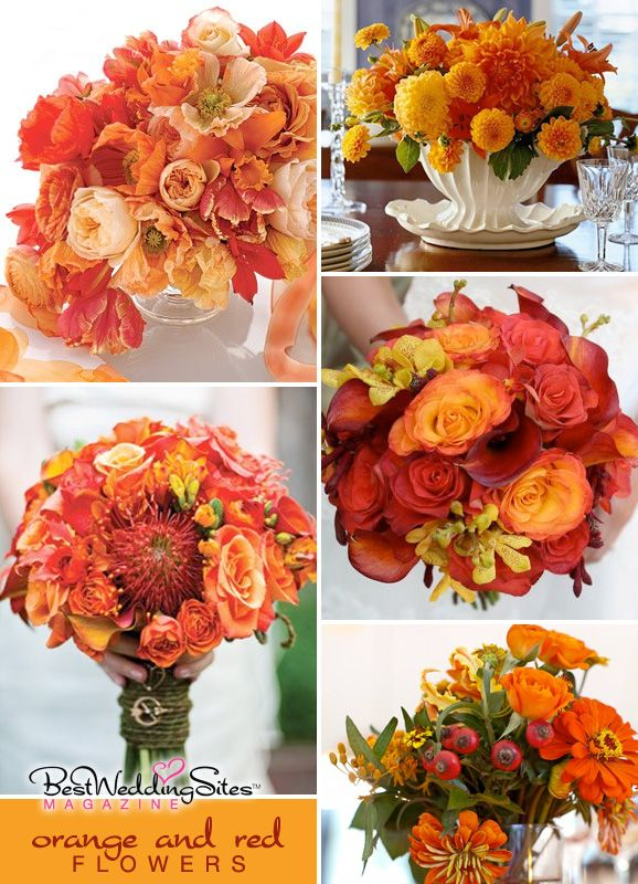 Wedding Inspiration : Orange and RedFlowers - Best Wedding Sites - wedding planning directory and guide for weddings, favors, accessories, invitations