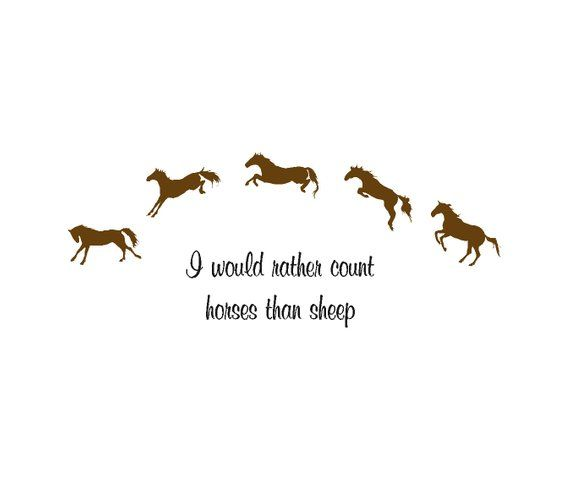 horse decal-horse quote-childs room-wall sticker-girls bedroom decor