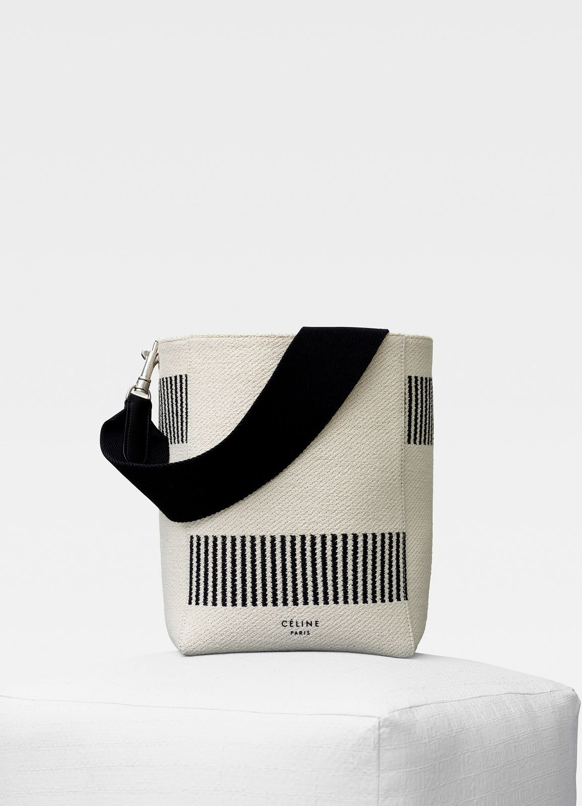 ab047974d470 Sangle Small Bucket bag in textured canvas