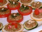 Pesto veggie appetizers
