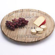 Vino Veritas Wine Barrel Lazy Susan.  I want/Tuesday Morning