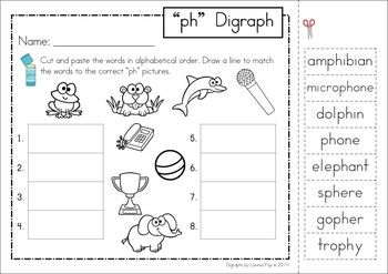 Digraph Ph Phonics Word Work Multiple Phonograms Phonics Phonics Words Digraph