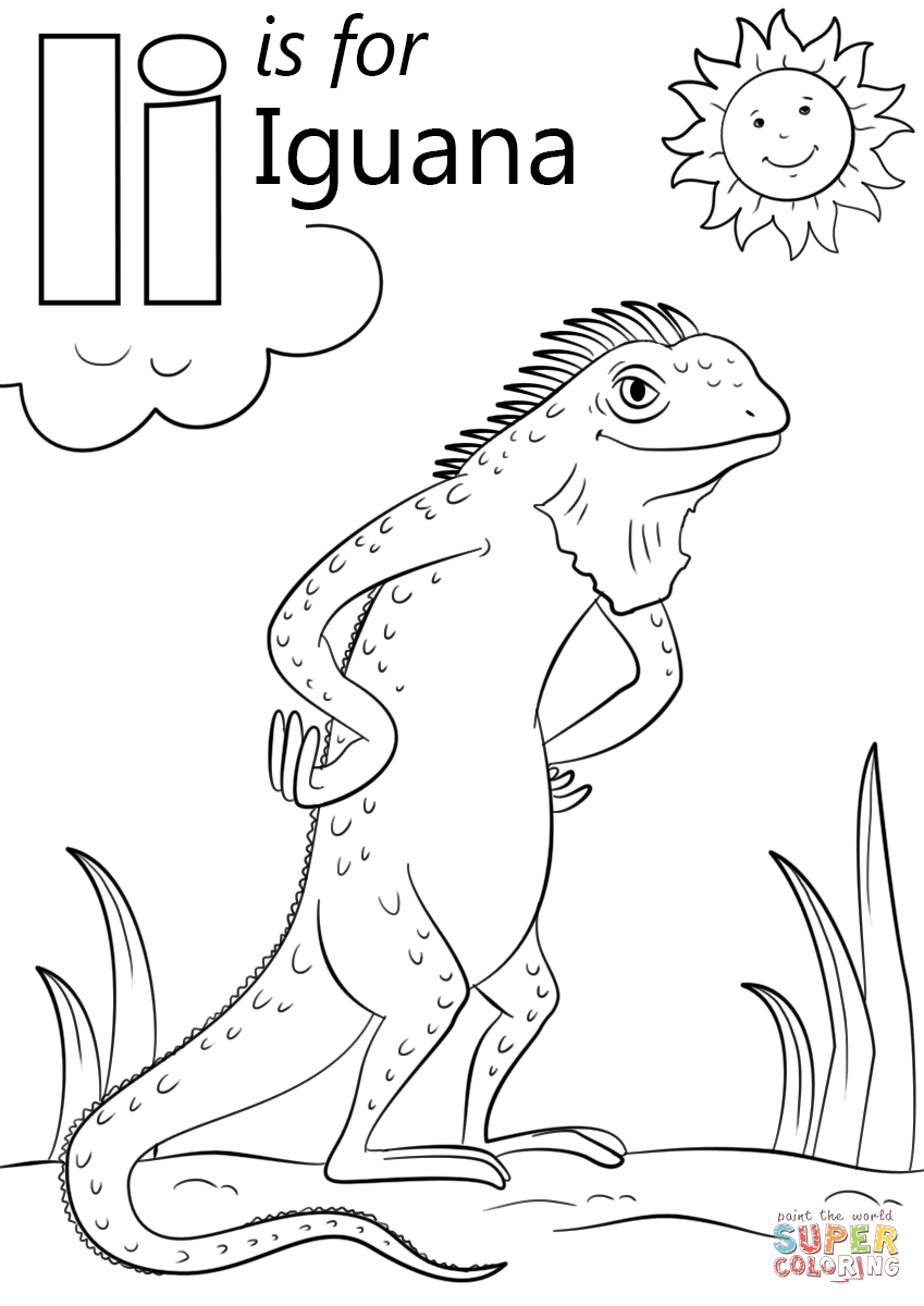 Letter I Is For Iguana Super Coloring Abc Coloring Pages Alphabet Coloring Pages Letter I Crafts