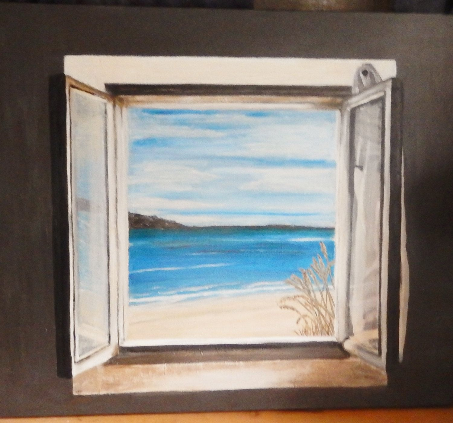 Popular Items For Open Window On Etsy Large Canvas Painting Window Painting Open Window