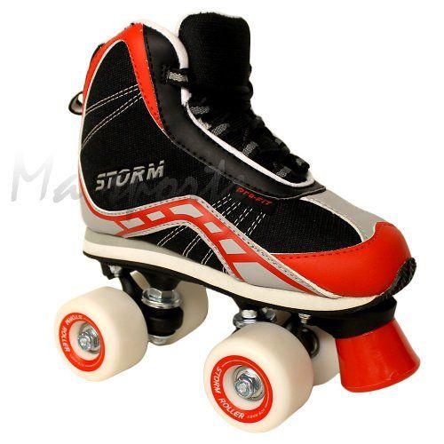 California Pro Storm Quad Roller Skates Unisex Black//Red