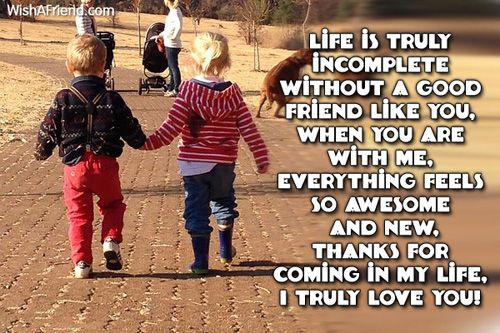 Life Is Truly Incomplete Without A Good Friend Like You When You