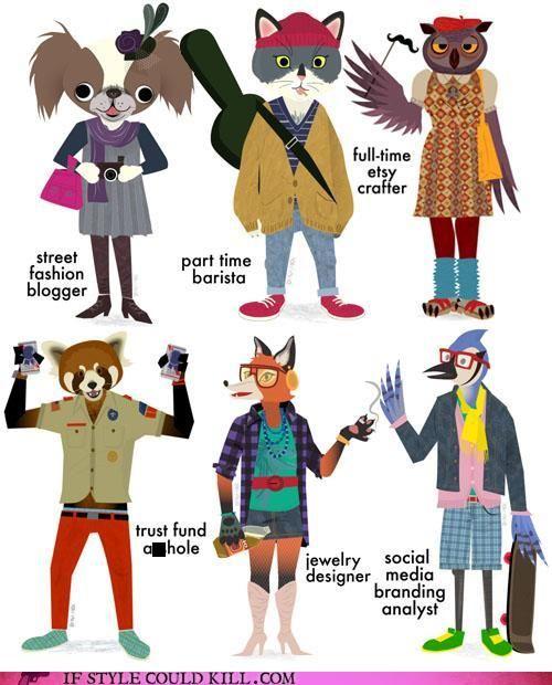 Hipster animals haha