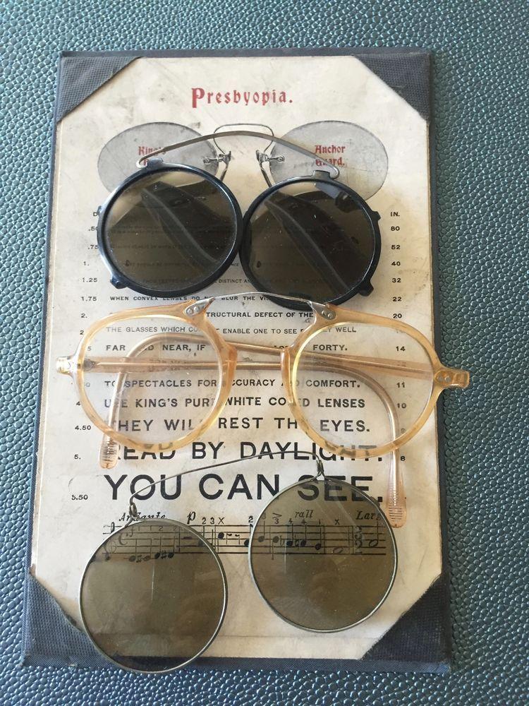 Lot Of Three Spectacles And Presbyopia Eye Chart Card I Like The