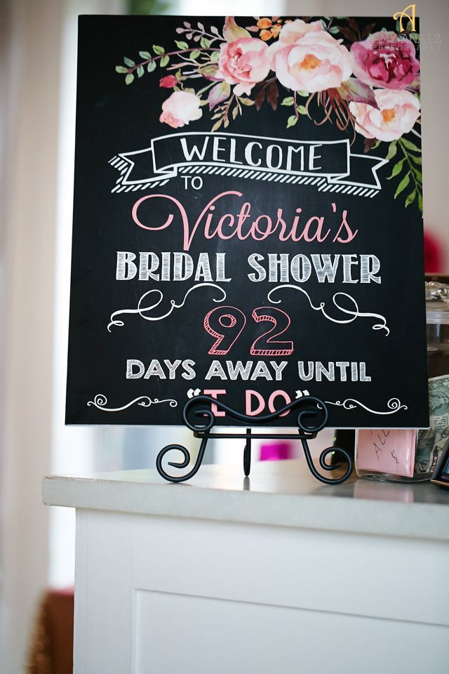 Bridal Shower Welcome Sign The Glam Giraffe
