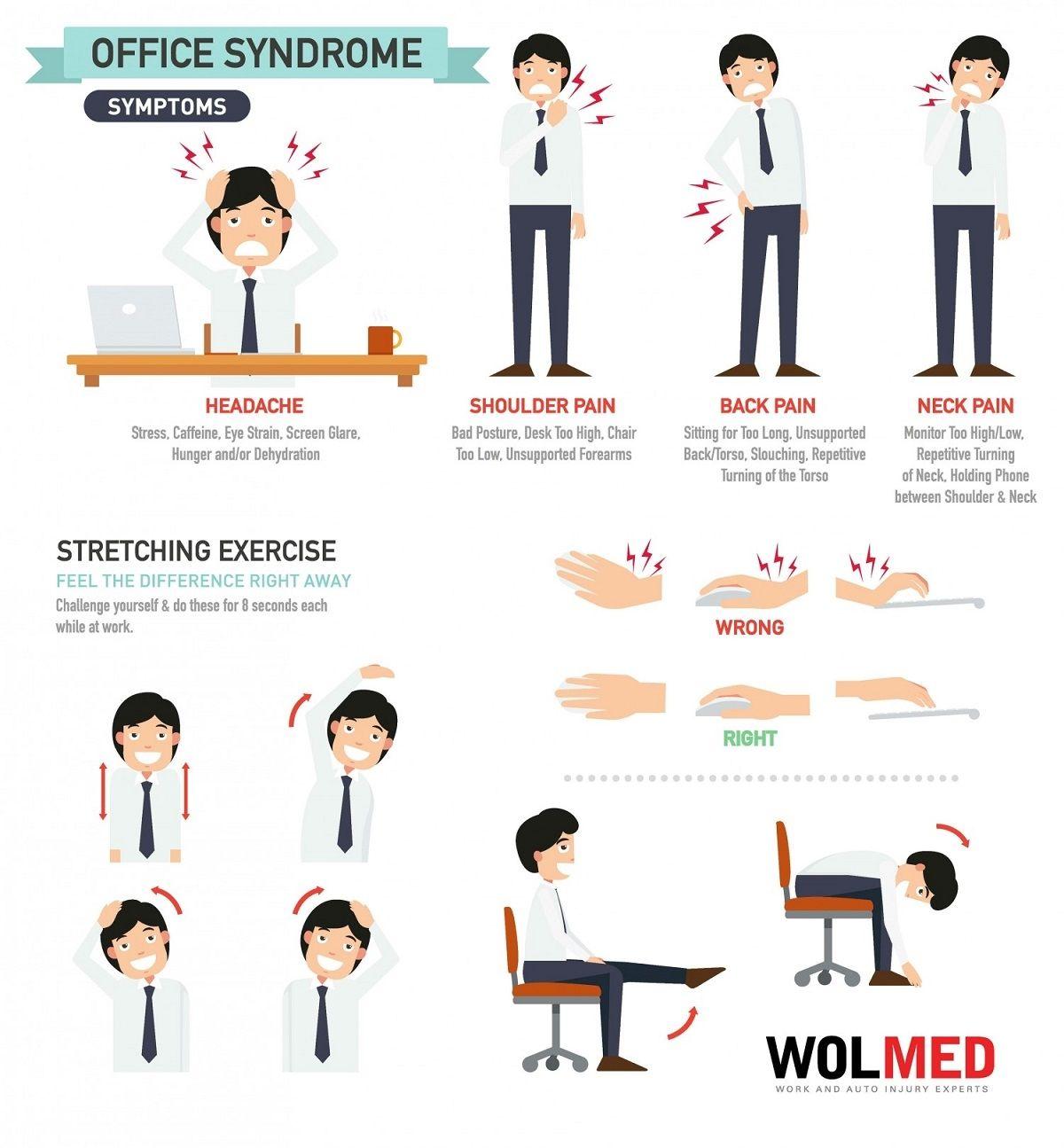 Office Desk Back Exercises