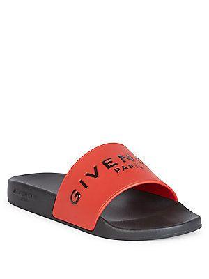 70ac0ea3a72e Givenchy Logo Rubber Slides