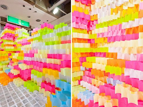 POST-IT STRUCTURES BY YO SHIMADA