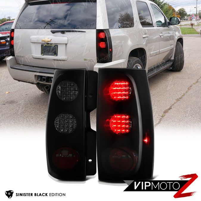 Sinister Black 2007 2017 Tahoe Suburban Left Right Rear Led Tail Lights Brake Vipmotoz