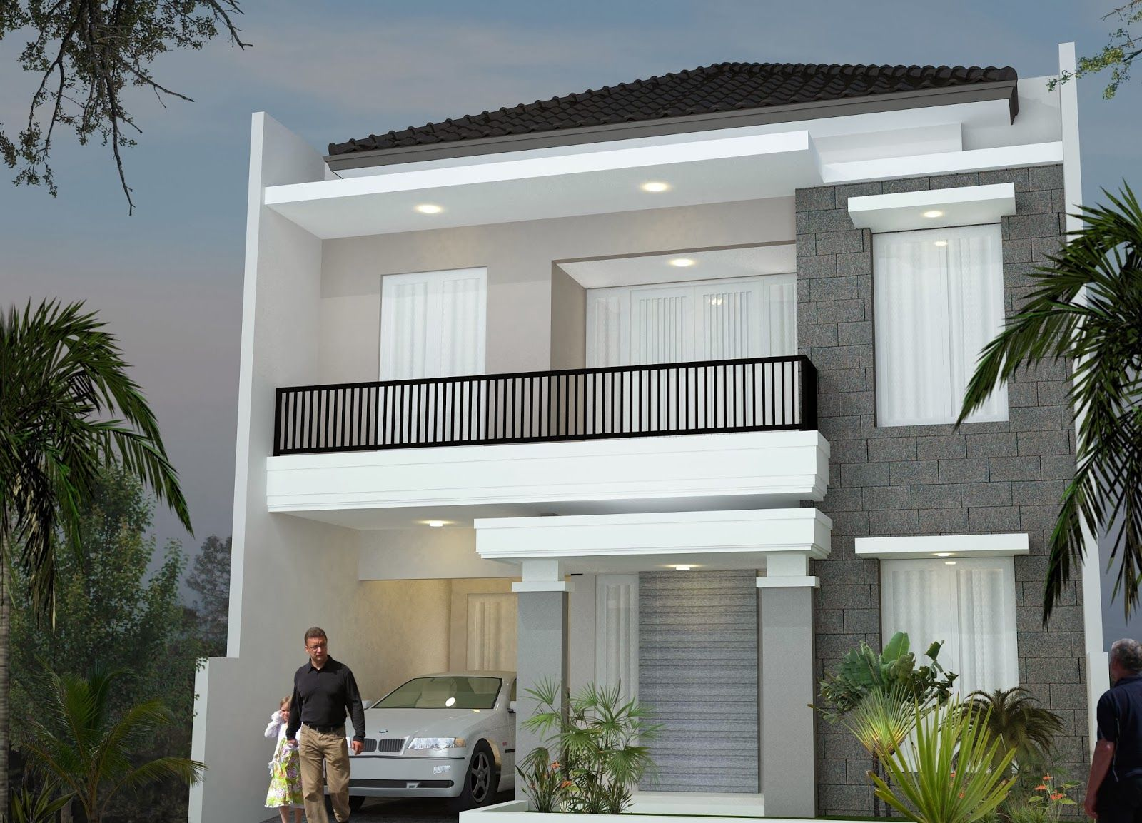 Minimalist design house 2nd floor desain rumah minimalis for 2nd floor house front design