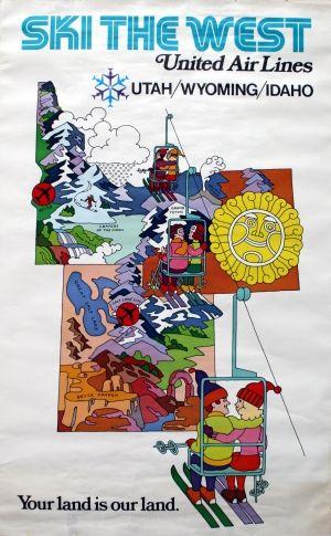 Ski the West, 1960s - original vintage poster listed on AntikBar.co.uk JAN16