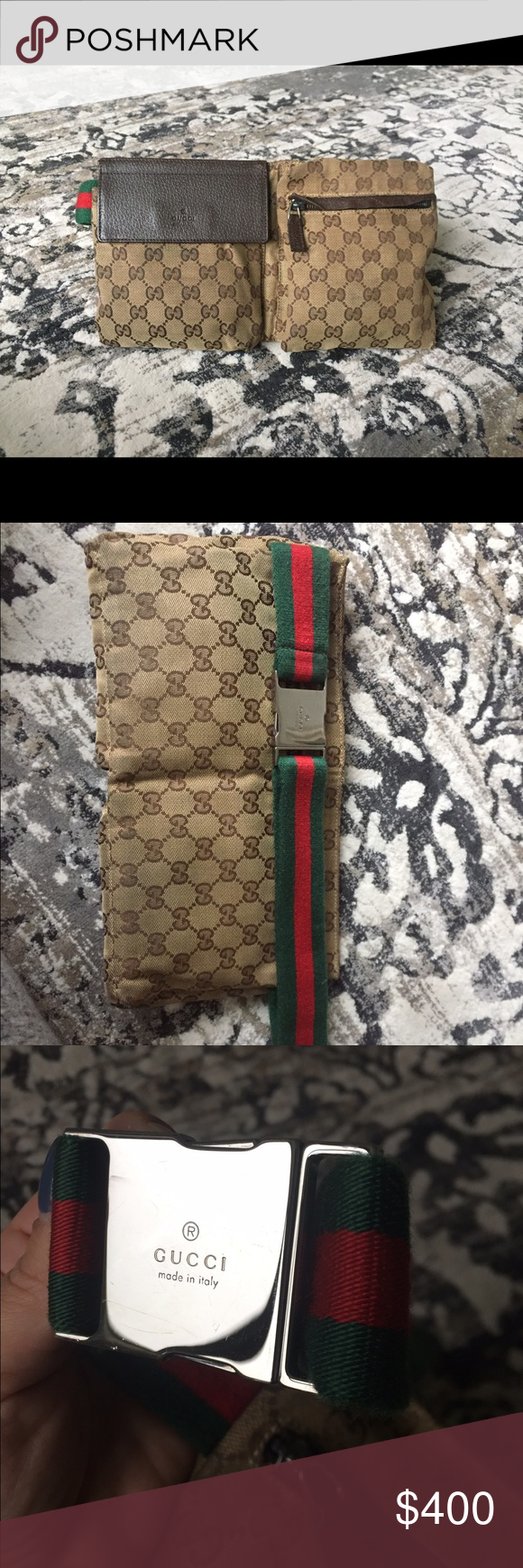 700c92996 Authentic GuccI Original GG Canvas Belt Bag Great condition waist bag. Some  wear from time