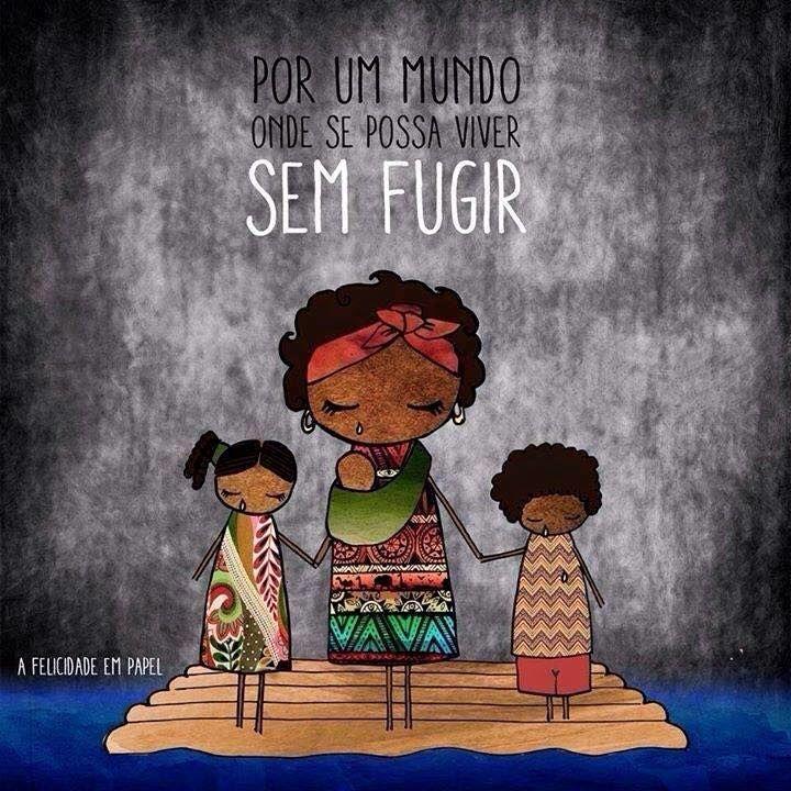 Excepcional Por um mundo sem refugiados. | Frases e imagens giras | Pinterest ZG32