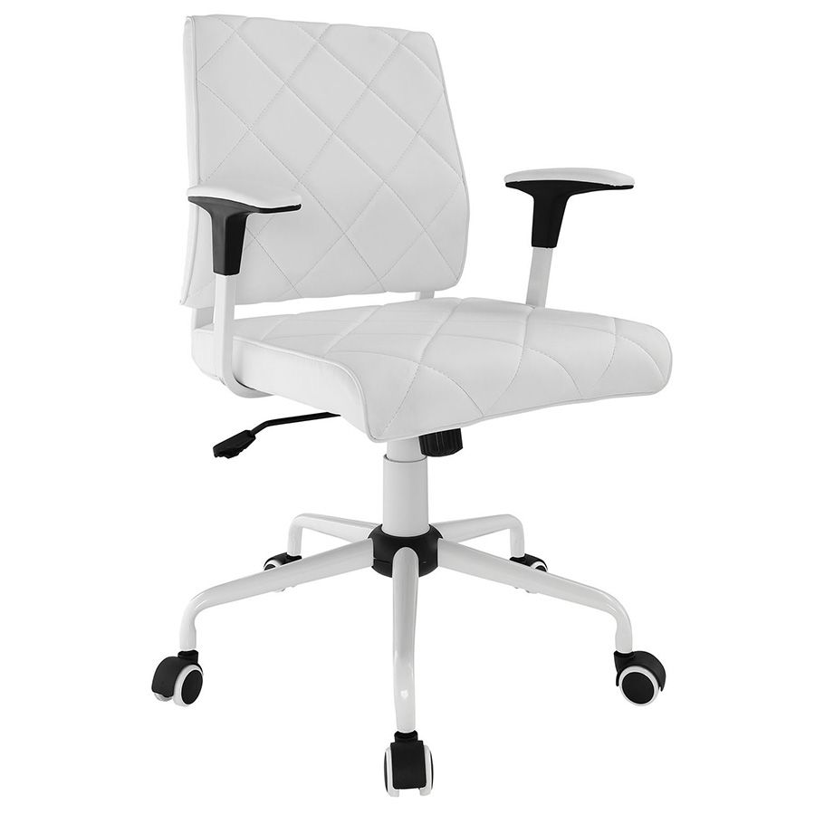 ladera modern white office chair office chairs pinterest white