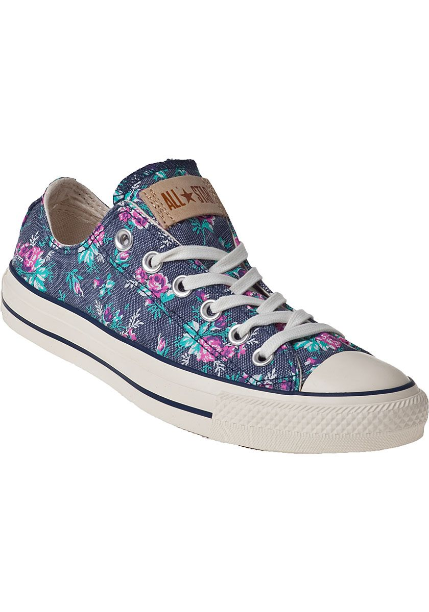 Converse Womens Chuck Taylor All Star Sneakers Floral