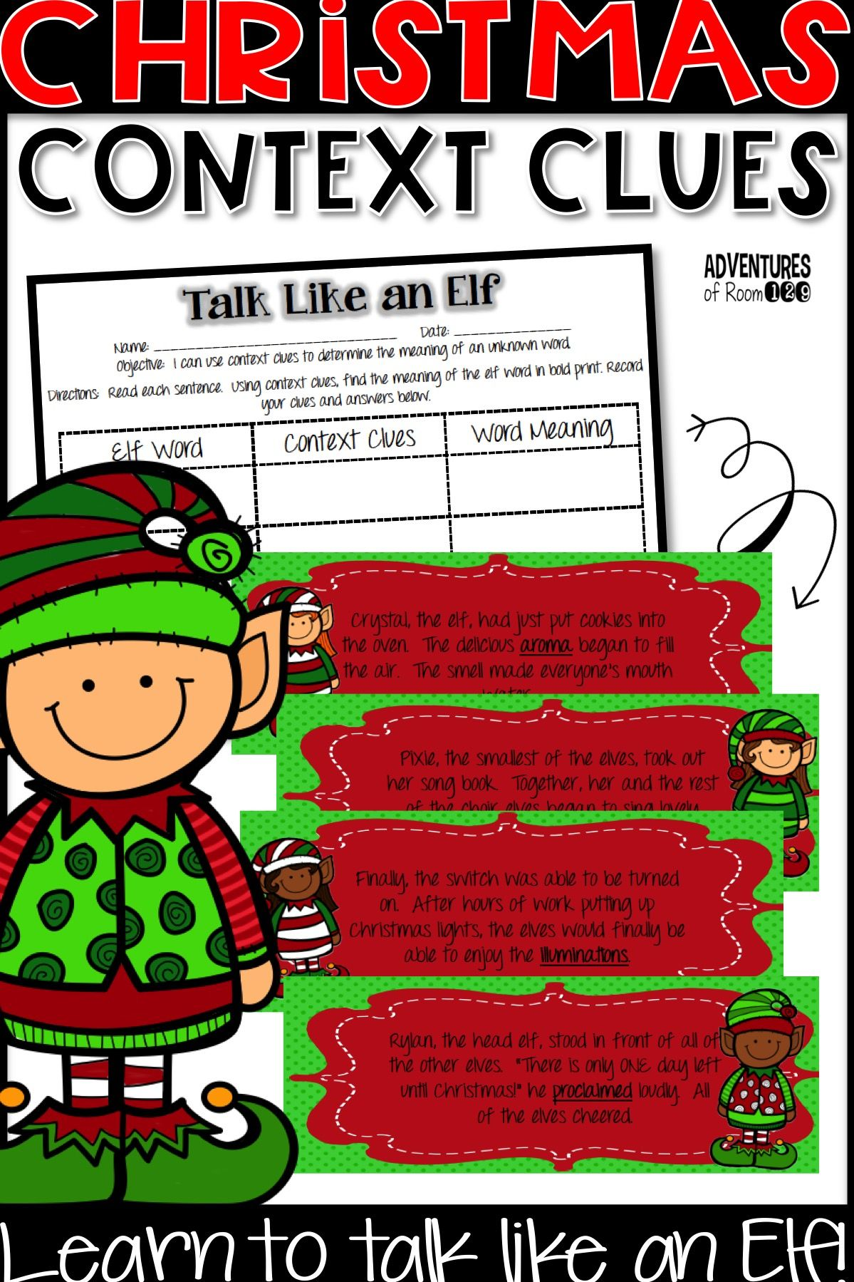 Christmas Context Clue Activity