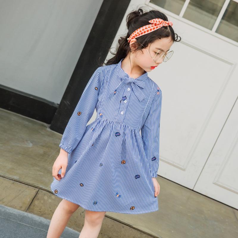 25.00$  Watch now - http://ali2an.shopchina.info/go.php?t=32804042286 -   Girls Princess Dress Striped 2017 Brand Summer Princess Dress Cartoon Bow Collar Children Costume for Kids Dresses  25.00$ #SHOPPING