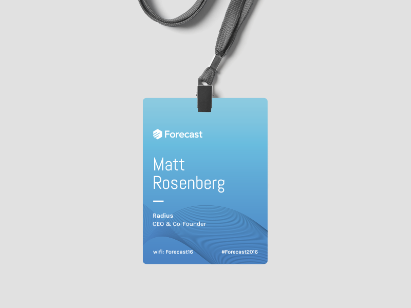 forecast 2016 conference badge