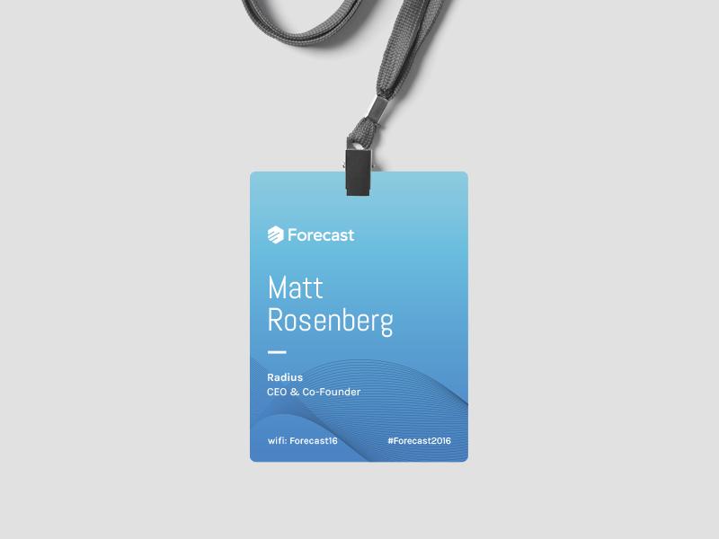 Forecast 2016 Conference Badge | VI & Brand | Conference ...