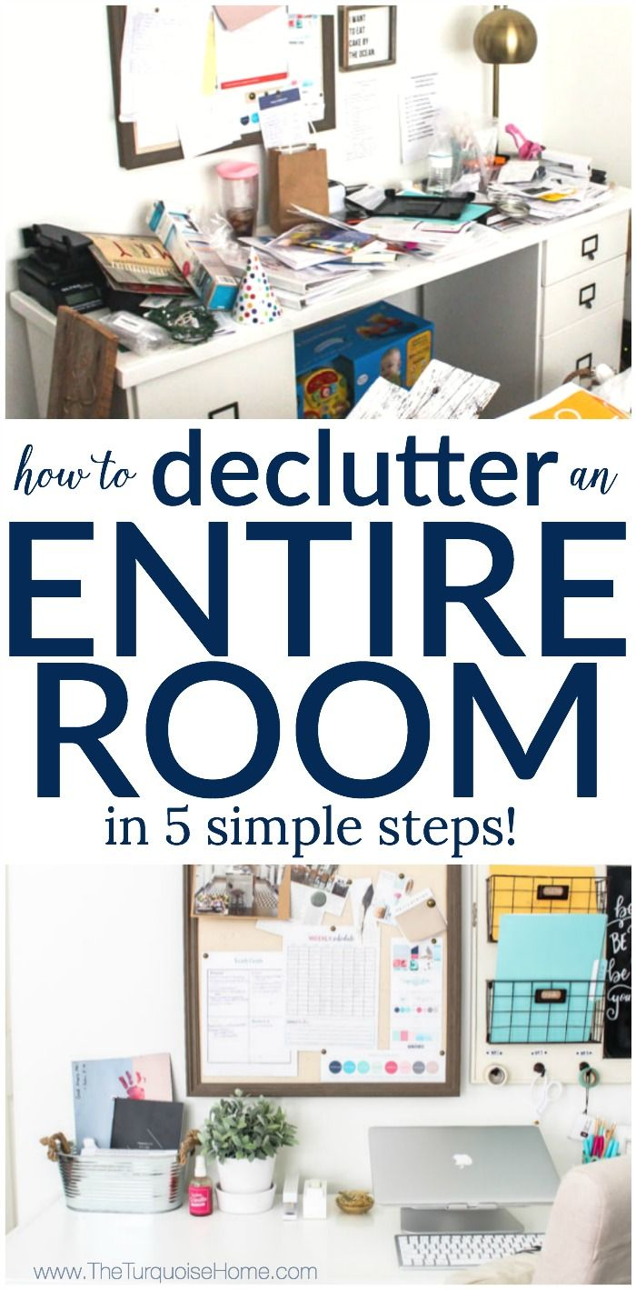 How To Declutter An Entire Room In 5 Simple Steps My Organized Office 30 Days Less Of A Hot Mess