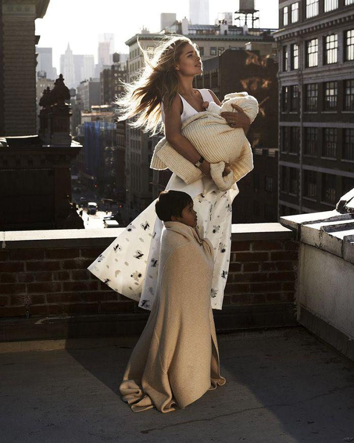 Doutzen Kroes & Family By Paul Bellaart For Vogue