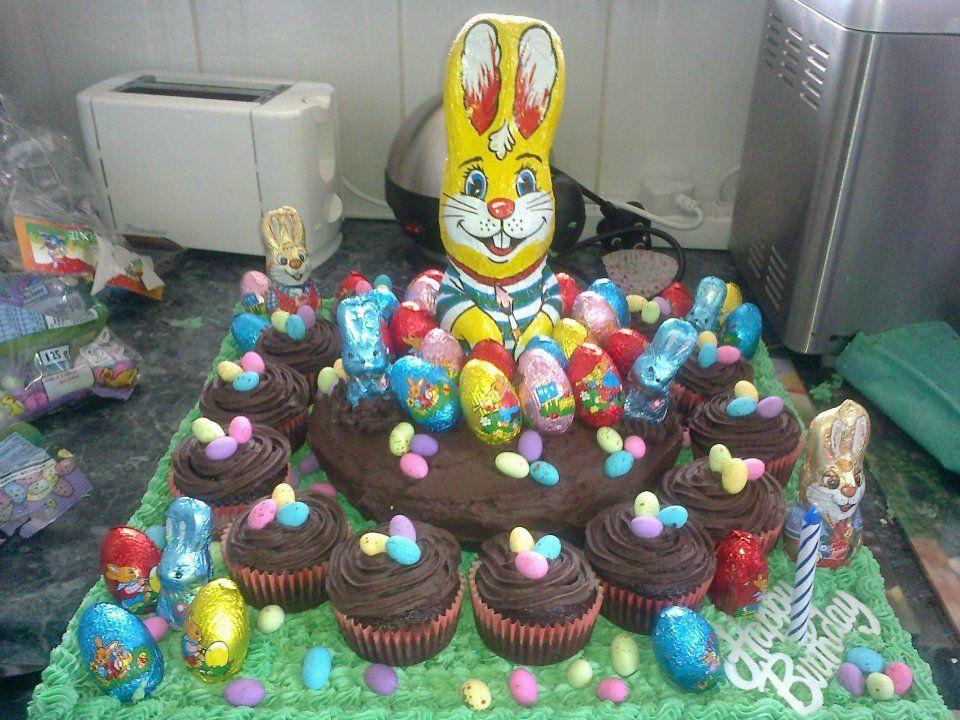 Easter Egg Hunt Birthday Cake Celebration Cakes Egg Hunt Cake