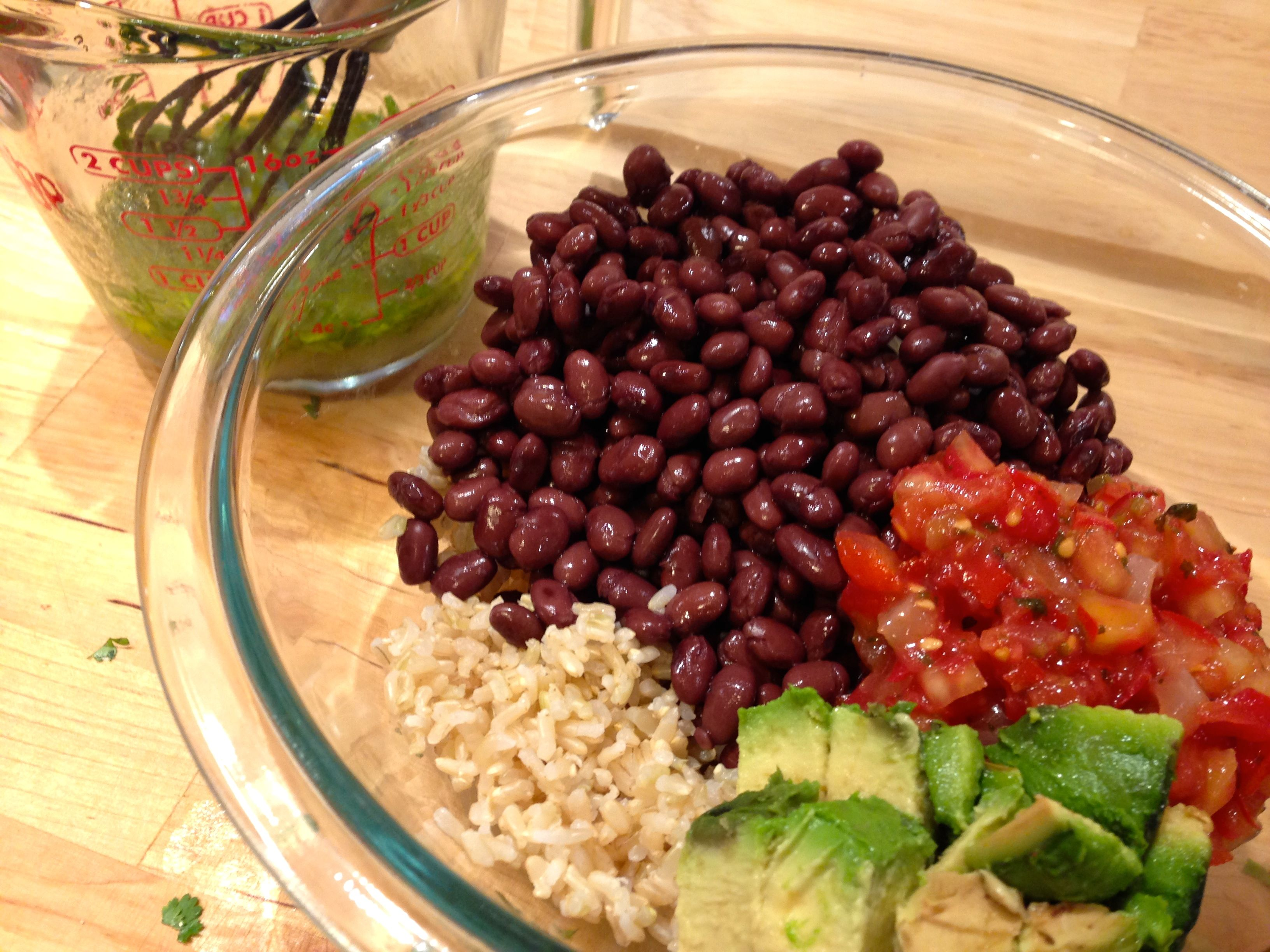Chipotle-Style Bean Burrito Bowl (in 7 Minutes or Less!)