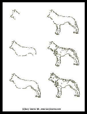 How to draw a wolf howling youtube step by step instructions on drawing a