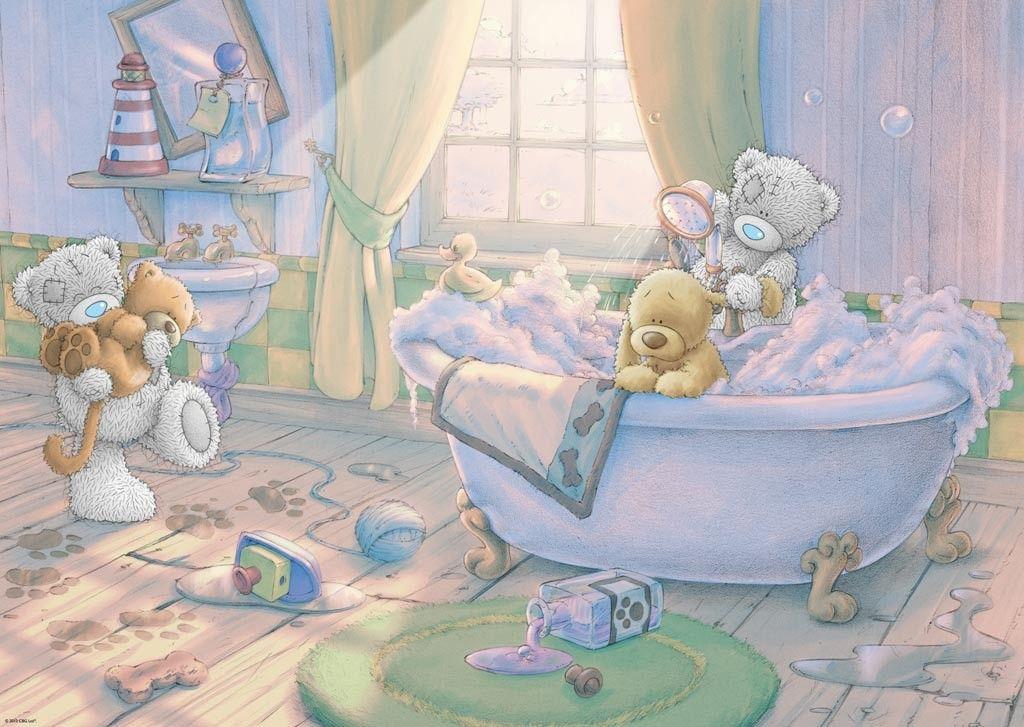 bathing.quenalbertini: Bears bath time