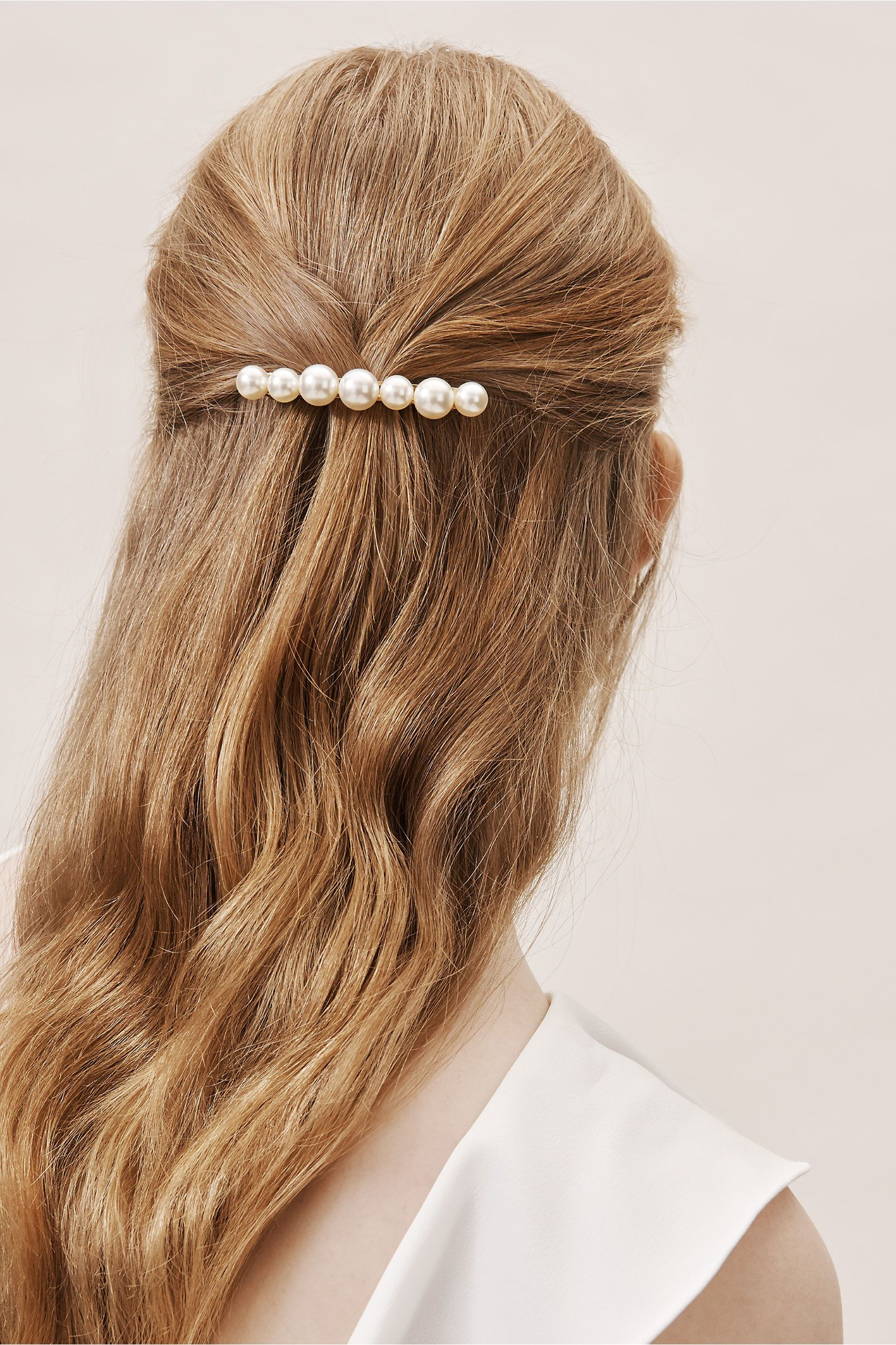 04afdad81 BHLDN's Jennifer Behr Pim Pearl Barrette in Pearl in 2019 | Products ...