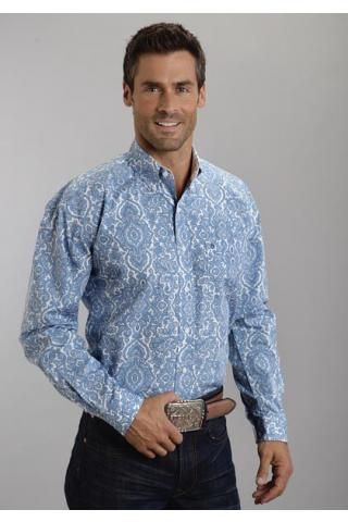 Pilagree+Paisley+Print+On+Poplin+9779+Stetson+Men's+Collection-+Summer+I+Long+Sleeve+Urban+
