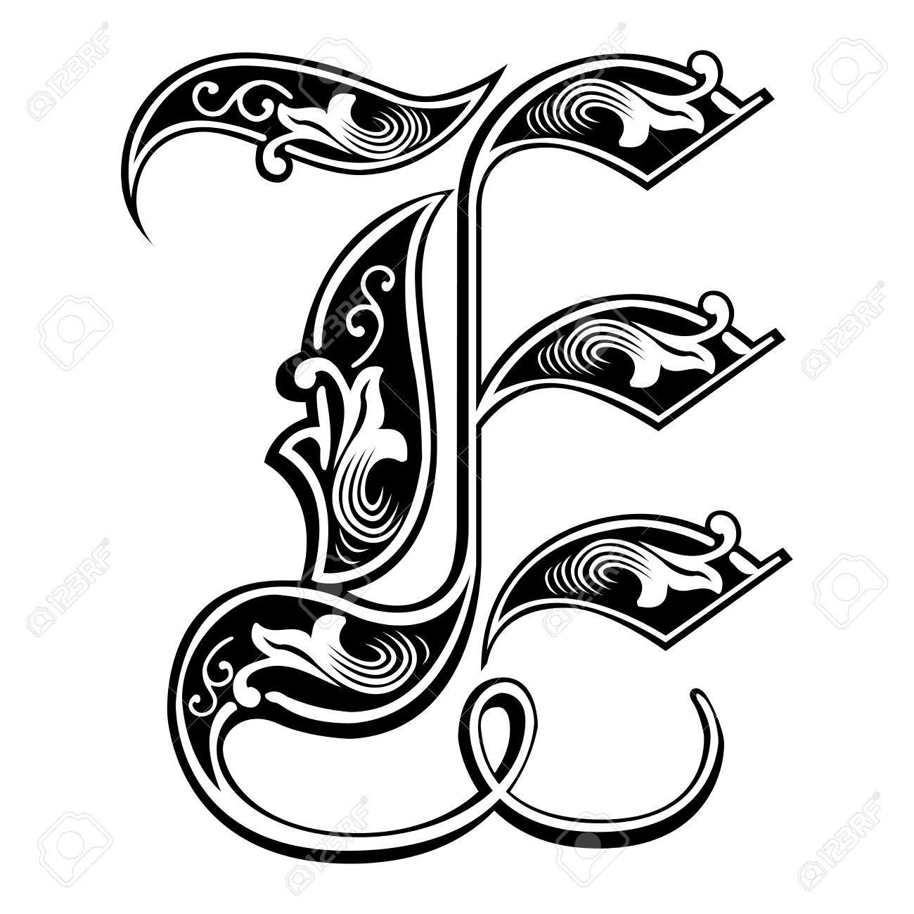Belle Decoration Alphabets Anglais De Style Gothique