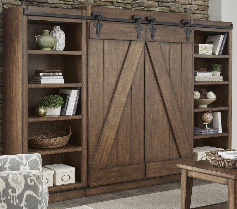 I quite like this pristine arched interior barn doors