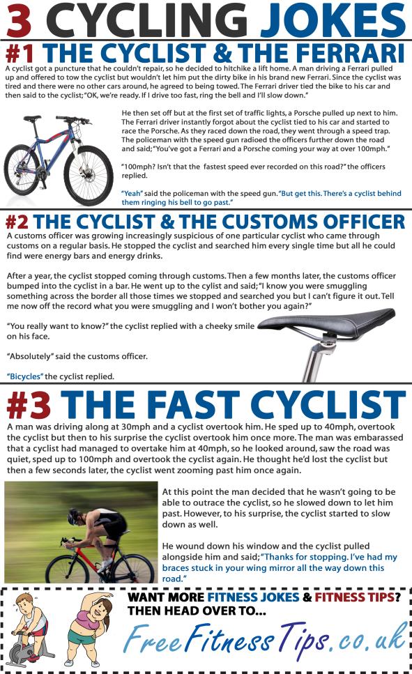 3 Cycling Jokes Fitness Jokes Workout Programs Fitness Jobs