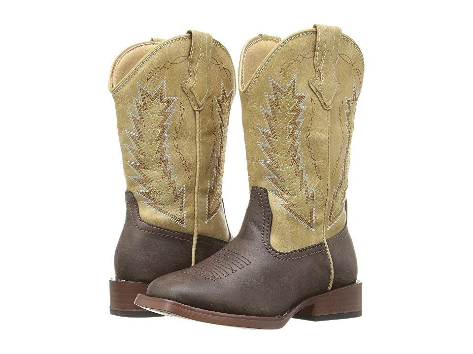 ba7717c59fb Roper Kids Billy (Toddler/Little Kid) Cowboy Boots Brown Faux ...