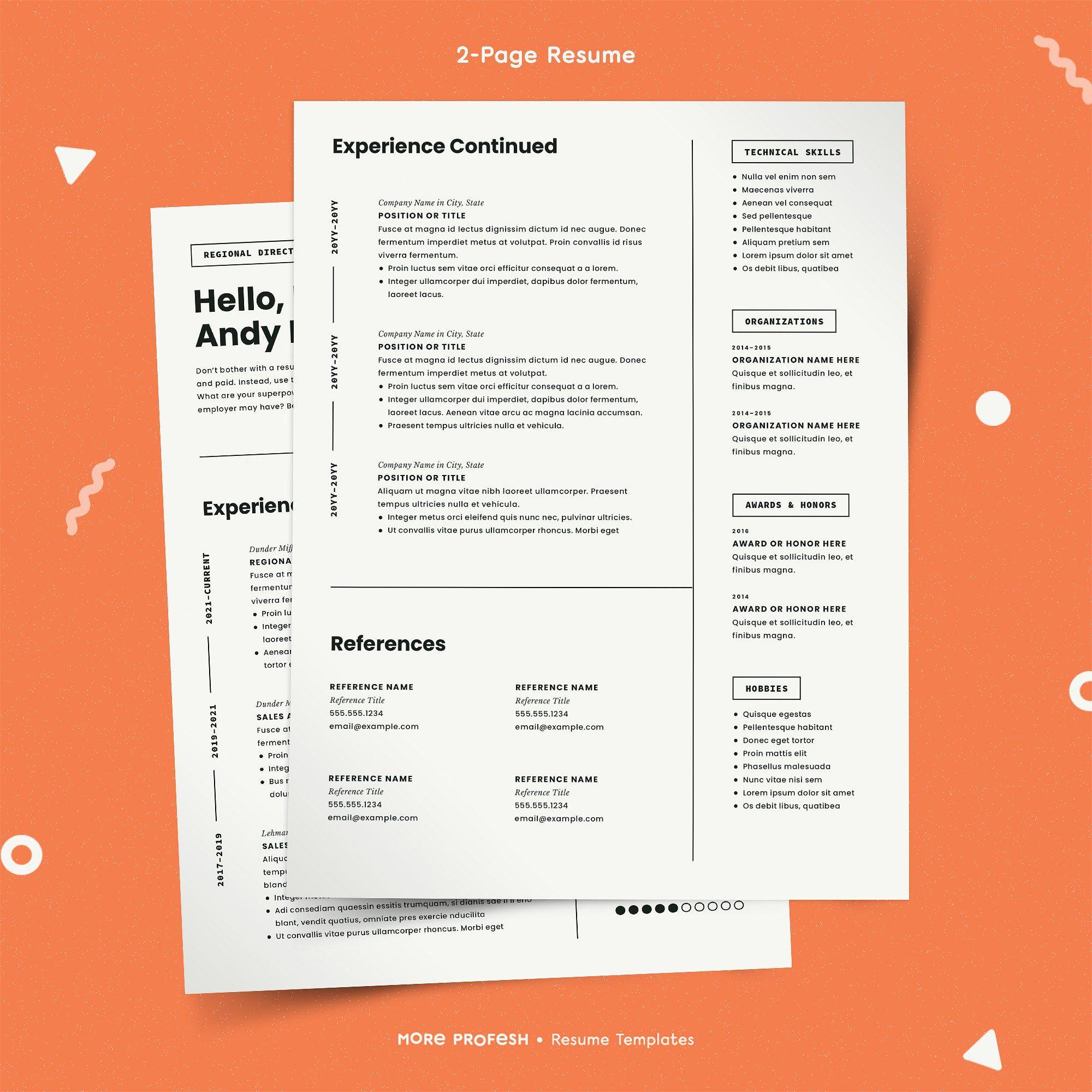 Modern Resume Template CV Modern resume template, Simple