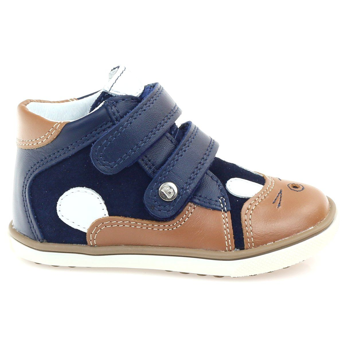 Trzewiki Chlopiece Krolik Bartek 11702 Braz Granatowe Brazowe Biale High Top Sneakers Baby Shoes Shoes