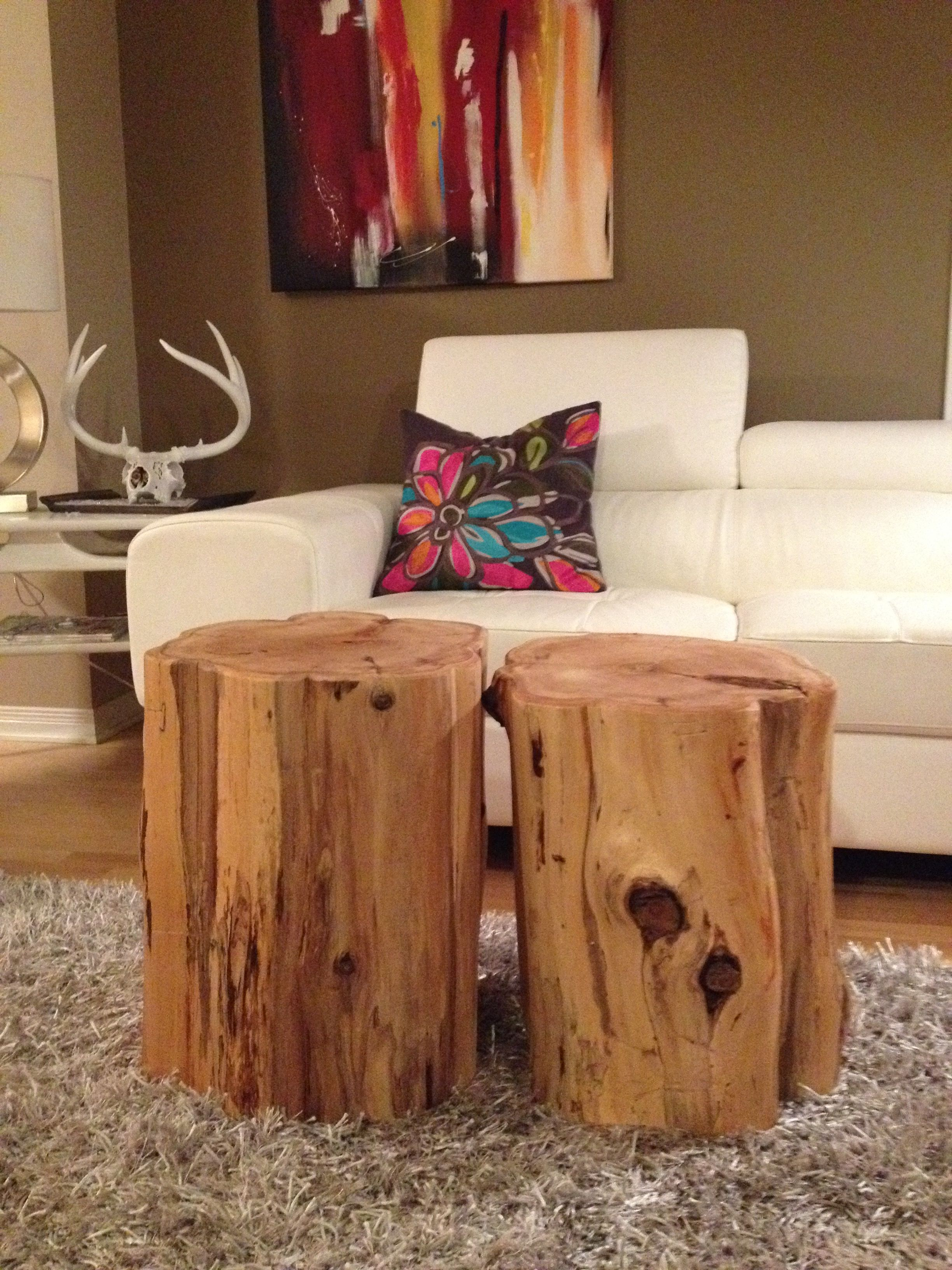 Stump Side Table Log Furniture Tree Trunk Table Eco Friendly