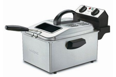 Waring 1800-Watt Deep Fryer in Brushed Stainless Steel    Retail Price: $189.99  Yugster Price  $79.97