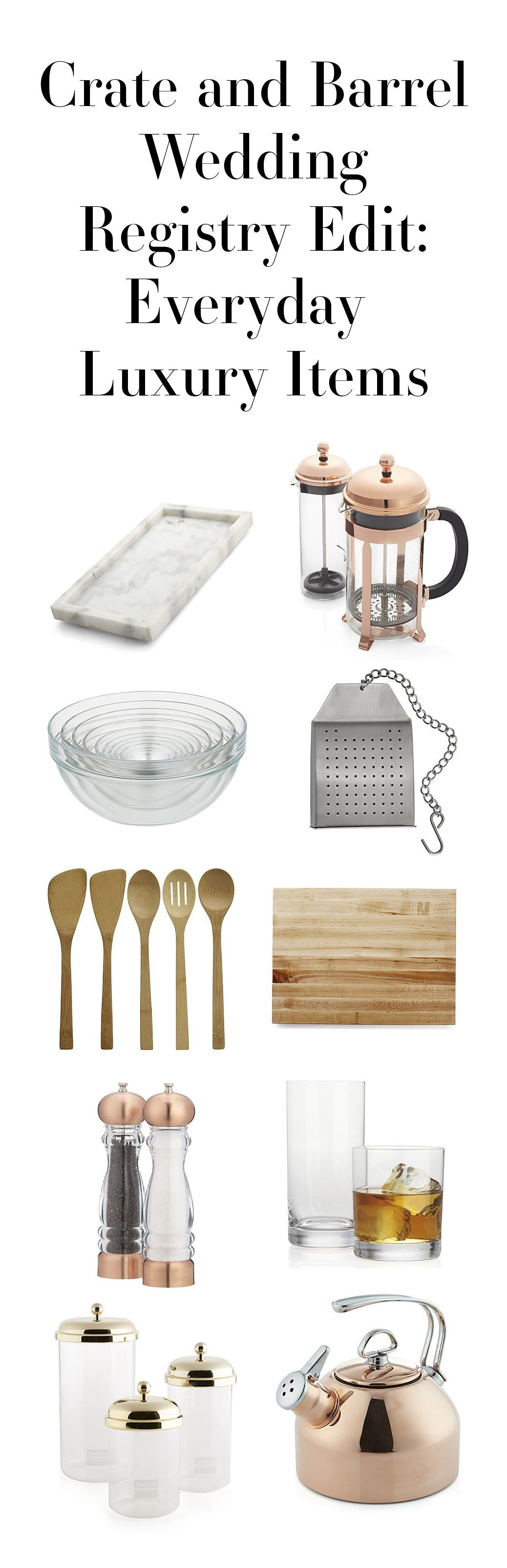 Our luxe gift registry picks from Crate and Barrel (you